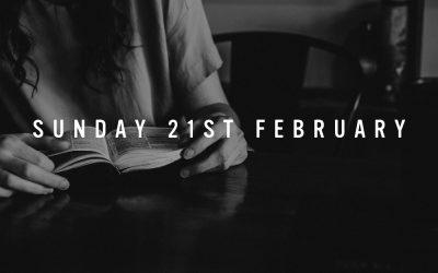 Prep for Sunday 21st February 2021